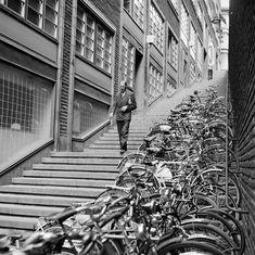 Cykelparkering i trappan mellan Kungsgatan och Malmskillnadsgatan