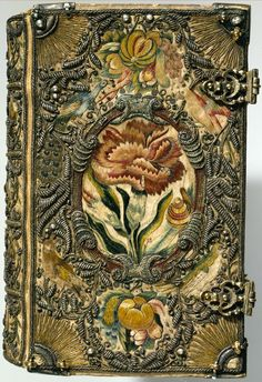 Textile bookbinding-The Netherlands, 1615-1620.