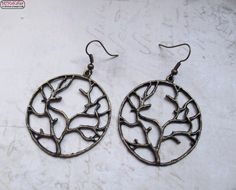 Ohrringe Baum Bronze Vintage