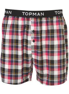 Topman Branded Purple Check @ topman.com