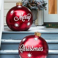diy outdoor christmas decorations large outdoor christmas ornaments outdoor christmas presents porch christmas - Cheap Large Christmas Decorations