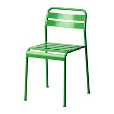 IKEA - ROXÖ, Chair, green, , The materials in this outdoor furniture require no maintenance.Can be stacked, which helps you save space.Easy to keep clean – just wipe with a damp cloth.