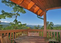 Chimney Top Overlook - Wake up in this real log cabin to a breathtaking view of the sun rising over the top of Mount LeConte.