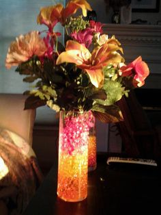 Beautiful Flowers Vase Altogether Everything In This Arrangement Was Less Than 10 From Red Yellow