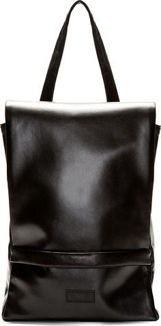 Rad by Rad Hourani black foil laptop bag.
