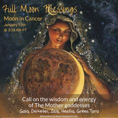 Call on The Creatrix in the Full Moon: Wisdom from Seanmháthair Gealach (Grandmother Moon) Day 16, Full Moon in Cancer at 3:33 AM Pacific Time 🌕 🌿 It's that time again… A beautiful Full Moon rising in the East. For me, it arrived at 3:3…