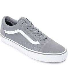 153706a8c7 Vans Old Skool Frost Grey   True White Skate Shoes Vans Old Skool Gray