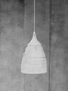 Modern Crochet pendant lights which have been hand crafted in India. Skilled artisans twist wire mesh into a crochet pattern to create this unique light fitting. Perfect as a statement on their own or hanging in groups, the Light Effect, Pendant Lighting, Lamp, Light, White Aura, Lights, Pendant Light, Ceiling Lights, Light Fittings