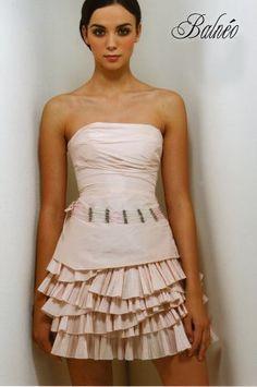 vente de robe de mariage doccasion cymbeline modele balneo couleur peche - Complicit Mariage Robe Cocktail