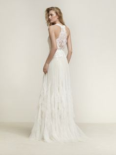 Wedding dress with frills