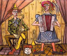 Bernard Buffet, les clowns musiciens