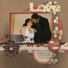 5x7 single picture scrapbook page