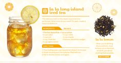 DavidsTea - Tea Recipes: La la long island iced tea.