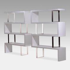 Modloft Pearl Wood Bookcase - Lacquer White