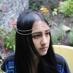 Silver Double Layer Head Chain