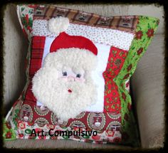 Capa para almofada Papai Noel