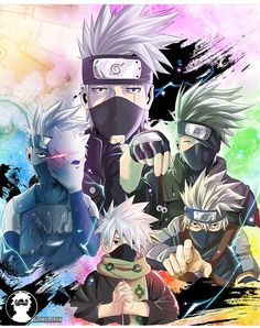 5 Shades of Kakashi Hatake by on DeviantArt Susanoo Kakashi, Kakashi Hokage, Kakashi Sensei, Naruto Shippuden Sasuke, Naruto Sasuke Sakura, Boruto, Itachi, Narusaku, Anime Naruto