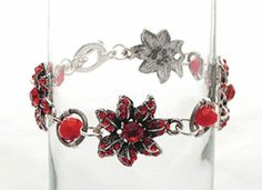 Poinsettia Wrap Bracelet