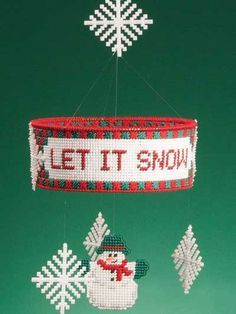 Plastic Canvas - Special Occasions - Winter - Let It Snow Mobile - #FP00436