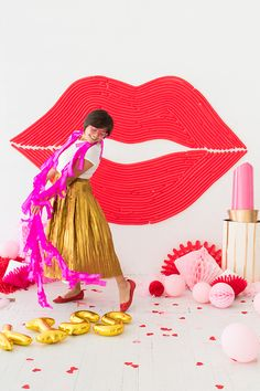 Lips Balloon Wall |