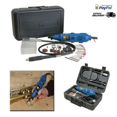 Variable Speed Rotary Tool Kit With Flex Shaft 100 Piece Accessory Set Of Bits  #WEN