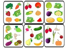Dobble - Fruit and Vegetables Games For Small Kids, Spot It, Visual Perception Activities, Learning Channel, Fruits For Kids, Food Spot, English Fun, Learn English, Fruit Of The Spirit