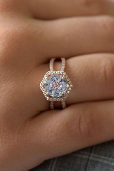 24 Sapphire Engagement Rings By Eidel Precious ❤️ eidel precious engagement rings round cut halo pave band modern ❤️ See more: http://www.weddingforward.com/eidel-precious-engagement-rings/ #weddingforward #wedding #bride