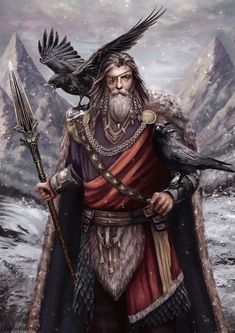 Viking Life, Viking Art, Viking Warrior, Odin Allfather, Viking Books, Wiccan Art, Sea Witch, Asatru, Fantasy Pictures