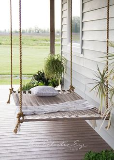 12 DIY Swing Bed Ideas to Spruce Up Your Outdoor Space Related posts: Super Ideas For Diy Outdoor Swing Bed Sleep Diy Outdoor Swing Friends Trendy Ideas Diy outdoor swing frame 32 ideas Trendy Diy Outdoor Bed Swing Daybeds Hammock Swing Bed, Diy Hammock, Diy Swing, Hammocks, Balcony Swing, Backyard Hammock, Swinging Porch Bed, Porch Swing Beds, Patio Hammock Ideas