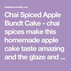 Chai Spiced Apple Bundt Cake - chai spices make this homemade apple cake taste amazing and the glaze and pecans on top make it such a pretty fall dessert. Creamy Salmon Pasta, Cake Tasting, Spiced Apples, Apple Cake, Fall Desserts, Chai, Pecans, Spices, Homemade