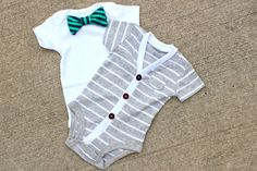 This is the cutest little onesie set for you little man
