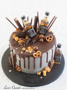 birthday its my 18th Birthday Cake For Guys, Birthday Cake For Boyfriend, 21st Cake, 40th Birthday Cakes, Chocolate Birthday Cake Decoration, Birthday Cake Decorating, Dessert, Liquor Cake, Alcohol Cake