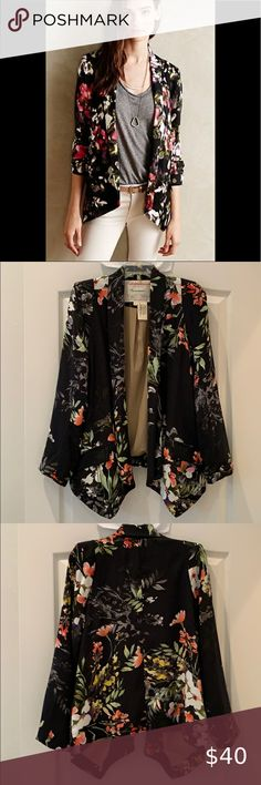 XL//1X//2X New Jet Black Lace Jacket Tee Shirt Knit Cardigan Kimono Sweater
