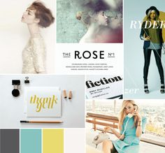 blue and yellow | moodboard by breanna rose