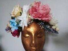 Handmade by me x Black Glitter, Headdress, Beautiful Flowers, Wedding Flowers, Floral Wreath, My Etsy Shop, Handmade Items, Bliss, Vintage