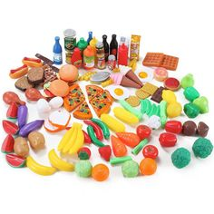 Liberty Imports 120 Piece Deluxe Pretend Play Food Assortment Set #LibertyImports