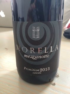 2013 Morella Mezzanotte Primitivo Salento, 15% - 7 euro (distributor price w/o tax) Deep purple with notes of cherry, vanilla, oak, dark fruits, grassy elements (fault from high VA). Dry, quite soft, almost balanced. Med persistency with dark fruits and herbal notes and a full body. BP: Buy...it's a good price and a good wine. Not perfect, but good.