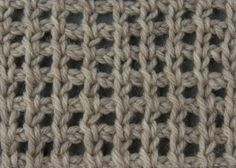 Tunisian Crochet Stitches | ... lace tunisian fillet cluster stitch seed stitch purled knit stitch