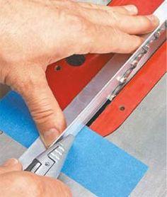 Couper marque pour scie circulaire à table