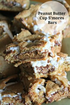 Peanut Butter Cup S'mores Bars