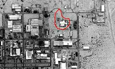 Aerial image of a secret nuclear reactor at Dimona in Israel | Photograph: space imaging | The Guardian