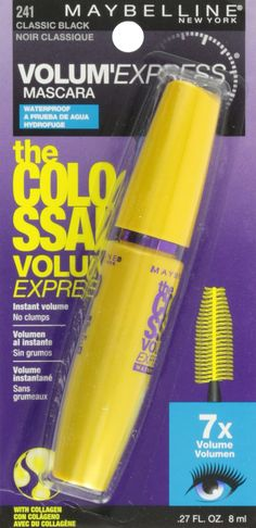 c7daa2fa630 Maybelline Makeup Volum Express The Colossal Waterproof Mascara Classic  Black Mascara 0.27 fl oz * Be