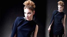 Cocktailkleider - Cocktail Kleid  Dark Blue - ein Designerstück von Berlinerfashion bei DaWanda