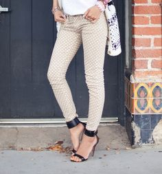 polka dot pants! Want.