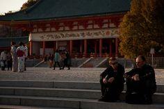 """"""" Heian-jingu Shrine """" 13.Apr.2013  日暮れ時の平安神宮。携帯からの投稿が出来ず遅れちゃったぁ。m(_ _)m"""