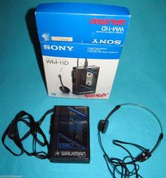 Vintage Sony Walkman WM-11D with Box Headphones 1985 Made in Japan Carry Strap #walkman