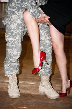 Welcome home! - I LOVE this picture! Would look so cute with a colorful dress and shoes against his dress whites.
