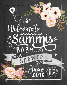 Baby Shower Sign Custom Chalkboard Baby Shower by PaperPeachShop Bridal Shower Chalkboard, Chalkboard Baby, Chalkboard Wedding Invitations, Chalkboard Ideas, Baby Shower Welcome Sign, Baby Shower Signs, Baby Shower Themes, Shower Ideas, Chalkboard Welcome Signs