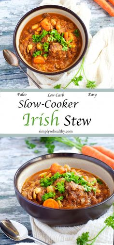 This Paleo Slow-Cooker Irish Stew is the perfect healthy and easy St. Patrick's Day dinner! This Paleo Slow-Cooker Irish Stew is the perfect healthy and easy St. Patrick's Day dinner! Irish Recipes, Paleo Recipes, Recipes Dinner, Dinner Ideas, Meal Recipes, Ketogenic Recipes, Free Recipes, Recipies, Cooking Recipes