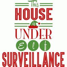 Silhouette Design Store: Elf Surveillance